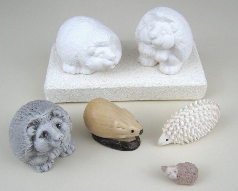 Moldedcarvedhedgehogs