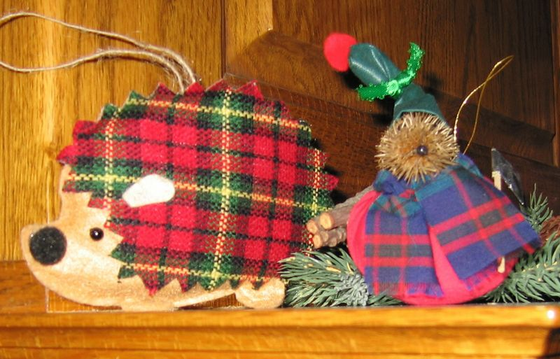 Checkedhedgehogornaments